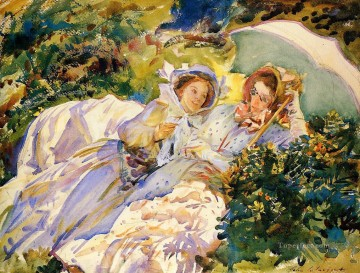Sargent Deco Art - Simplon Pass The Tease John Singer Sargent