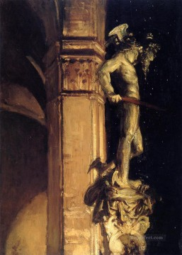 Night Art - Statue of Perseus by Night John Singer Sargent