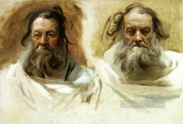 John Singer Sargent Painting - Study for Two Heads for Boston Mural The Prophets John Singer Sargent