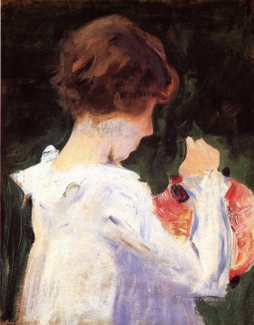 Lily Painting - Study of Polly Barnard forCarnation Lily Lily Rose John Singer Sargent