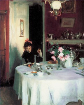 John Singer Sargent Painting - The Breakfast Table John Singer Sargent