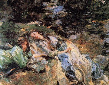 Singer Art Painting - The Brook John Singer Sargent