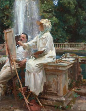 The Fountain Villa Torlonia Frascati Italy John Singer Sargent Oil Paintings