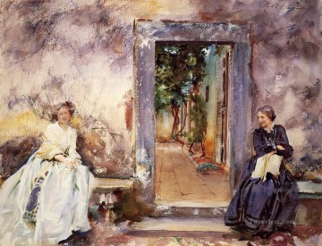 Garden Art - The Garden Wall John Singer Sargent