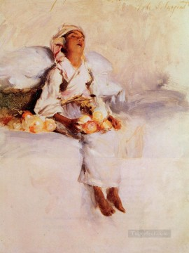 Fruit Painting - The Little Fruit Seller John Singer Sargent