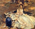 The Pink Dress John Singer Sargent