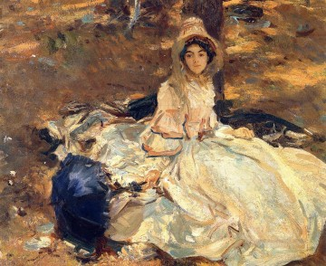 ink Art Painting - The Pink Dress John Singer Sargent