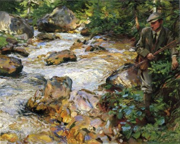 Singer Art Painting - Trout Stream in the Tyrol John Singer Sargent