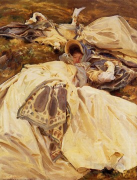 White Art - Two Girls in White Dresses John Singer Sargent