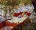 Two Women Asleep in a Punt under the Willows John Singer Sargent