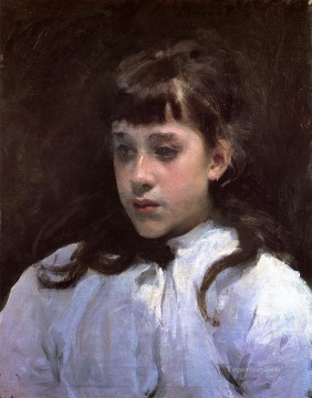White Art - Young Girl Wearing a White Muslin Blouse John Singer Sargent