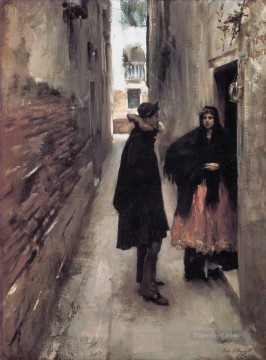 Sargent Street in Venice John Singer Sargent Oil Paintings