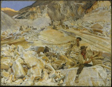 Bringing Dopwn Marble from the Quarries in Carrara John Singer Sargent Oil Paintings