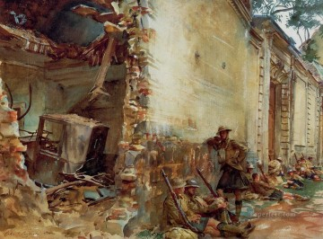 Tree Painting - Street in Arras John Singer Sargent