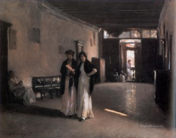 Venetian Interior John Singer Sargent Oil Paintings