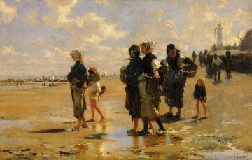 John Singer Sargent Painting - The Oyster Gatherers of Cancale John Singer Sargent