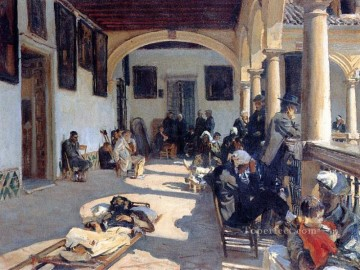 Hospital at Granada John Singer Sargent Oil Paintings