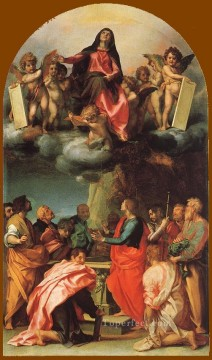 Andrea del Sarto Painting - Assumption of the Virgin renaissance mannerism Andrea del Sarto