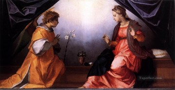 annunciation Painting - Annunciation renaissance mannerism Andrea del Sarto