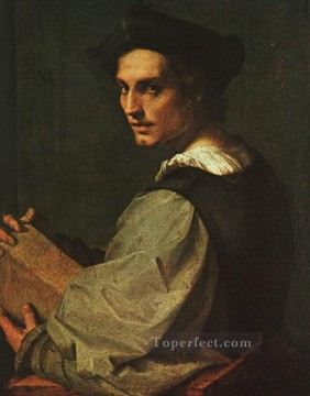 Portrait of a Young Man renaissance mannerism Andrea del Sarto Oil Paintings