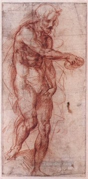 Andrea Canvas - Study For The Baptism Of The People renaissance mannerism Andrea del Sarto