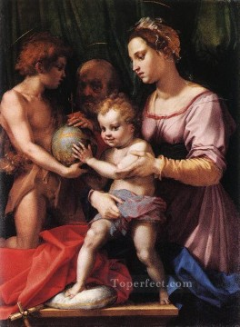Holy Family Borgherini renaissance mannerism Andrea del Sarto Oil Paintings
