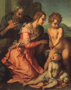 Holy Family renaissance mannerism Andrea del Sarto Oil Paintings