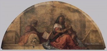 on canvas - Madonna del sacco Madonna with the Sack renaissance mannerism Andrea del Sarto