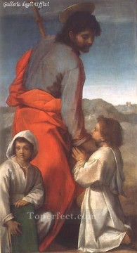 Andrea Canvas - St James with Two Children renaissance mannerism Andrea del Sarto