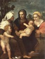 Madonna and Child with Sts Catherine Elisabeth and John the Baptist renaissance mannerism Andrea del Sarto