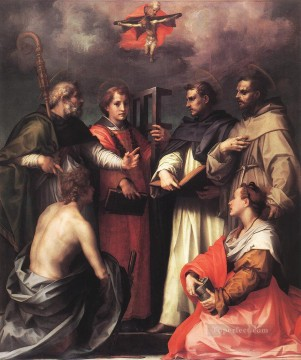 Andrea Canvas - Disputation over the Trinity renaissance mannerism Andrea del Sarto