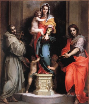 Andrea Canvas - Madonna of the Harpies renaissance mannerism Andrea del Sarto