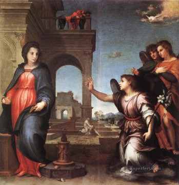 Andrea Canvas - The Annunciation renaissance mannerism Andrea del Sarto