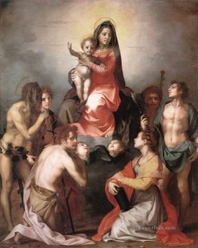 Andrea Canvas - Madonna in Glory and Saints renaissance mannerism Andrea del Sarto