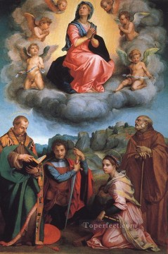 Virgin Painting - Virgin with Four Saints renaissance mannerism Andrea del Sarto