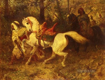 Arab On The March Arab Adolf Schreyer Oil Paintings