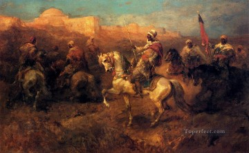 Arab Horsemen On The March Arab Adolf Schreyer Oil Paintings