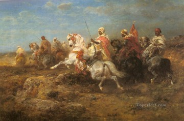 Adolf Schreyer Painting - Arab Patrol Arab Adolf Schreyer