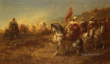 Arab The Ambush Arab Adolf Schreyer Oil Paintings