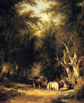 Shayer Snr William Painting - In The New Forest rural scenes William Shayer Snr