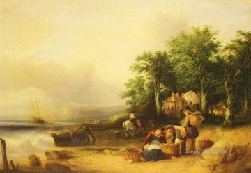 William Canvas - View On The Isle Of Wight rural scenes William Shayer Snr