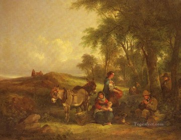 Shayer Snr William Painting - Afternoon Rest rural scenes William Shayer Snr