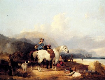 Shayer Snr William Painting - Looking Out To Sea rural scenes William Shayer Snr