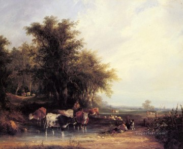 new orleans Painting - Near The New Forest rural scenes William Shayer Snr