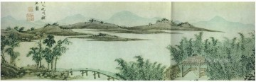 Shen Zhou Painting - unknown waterscape old China ink