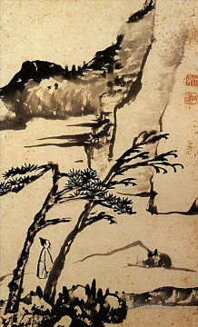 china - Shitao a friend of solitary trees 1698 old China ink