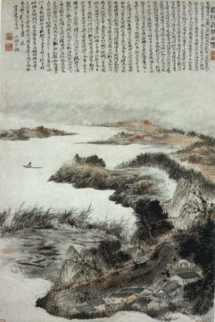 shitao Painting - Shitao clean autumn old China ink