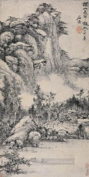 Shitao deep mountain old China ink Oil Paintings