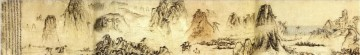Shitao huangshan old China ink Oil Paintings