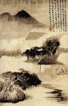 shitao Painting - Shitao sound of thunder in the distance 1690 old China ink